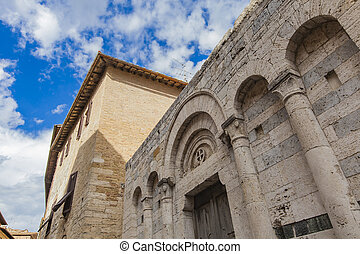 San Gimignano - View of the architecture of San Gimignano