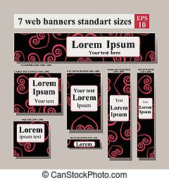 Set of Web side Valentine's day banners