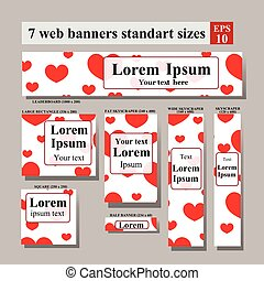 set of web banners Valentine's Day