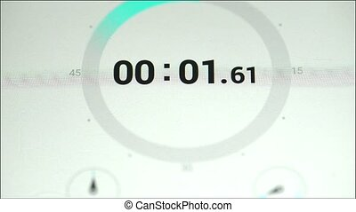 Stopwatch .Time is running out. Close-up of stop-watch on...