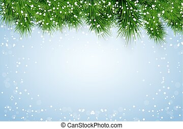 Christmas snowy background - Christmas background with...