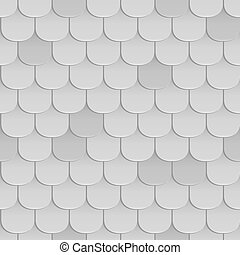 Shingles roof seamless pattern. Gray color. Classic style....