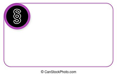 Purple frame for your text and paragraph symbol