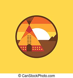 American indian tipi icon