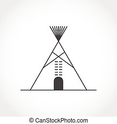 American indian tipi icon. Vector illustration