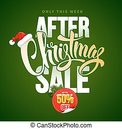 Christmas Sale Design Template - After Christmas Sale Design...