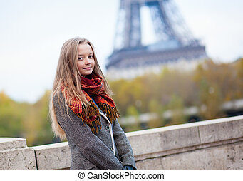 Young girl in Paris