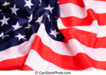 Defocussed American flag, blurred background, a template