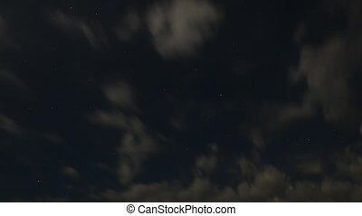 Clouds across the night Sky