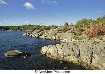 Nynäshamn Archipelago. Nynäshamn is located far south in...
