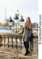 Beautiful young lady in Paris