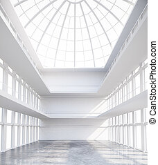 Spacious interior - Unfurnished spacious concrete interior...