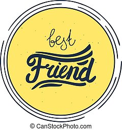 best friend label