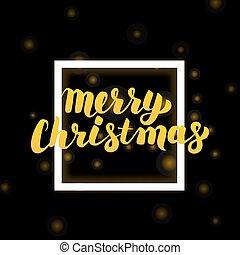 Merry Christmas Lettering Design. Vector Illustration of...