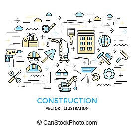 Construction Line Work Background