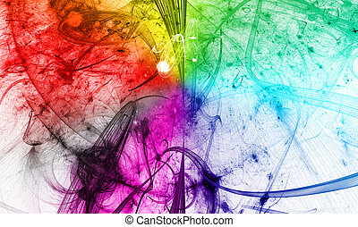Rainbow background for modern composition