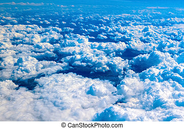 Cloudscape View above the Clouds from air plane