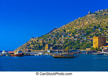 View on port in Alanya