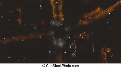 Traffic From Night City Lviv - Traffic From Above night city...