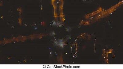 Traffic From Night City Lviv - Traffic From Above night city...