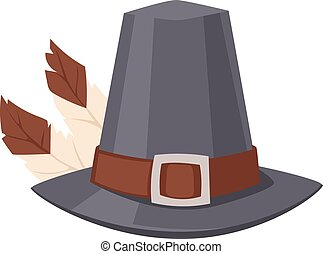 Hat with feather vector. - Oktoberfest german hunting hat...