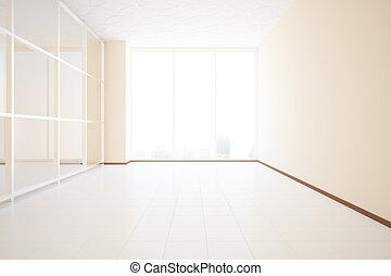 Unfurnished interior - Bright unfurnished beige interior...