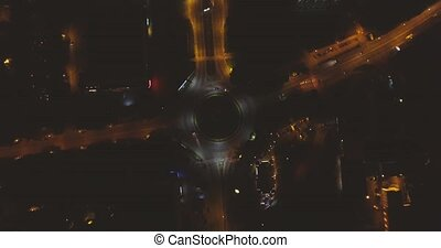 Highway Roundabout Traffic From Above