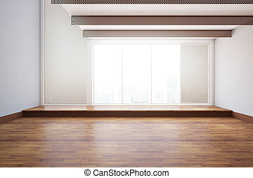 Unfurnished interior - Front view of unfurnished interior...