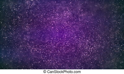 HD Loopable Background with nice glowing purple dust
