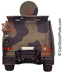 Italian army military truck - View of Italian army military...