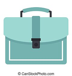 Briefcase icon, flat style - Briefcase icon. Flat...