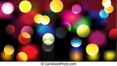 disco lights - Vector illustration of disco lights dots...