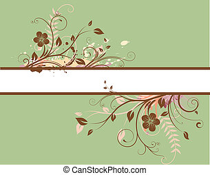 Floral Decorative banner - Vector illustration of style...