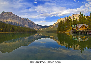 Emerald Lake - Reflection at Emerald Lake, Yoho National...