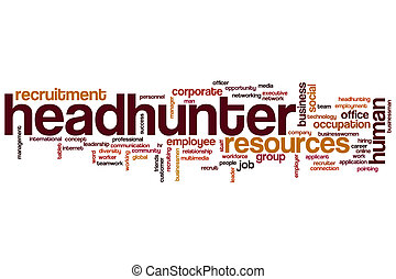 Headhunter word cloud concept