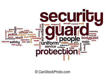 Security guard word cloud concept