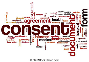 Consent word cloud concept