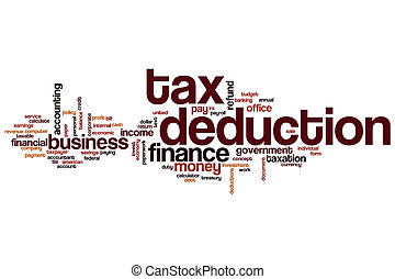 Tax deduction word cloud
