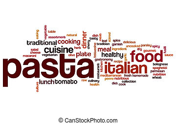 Pasta word cloud concept
