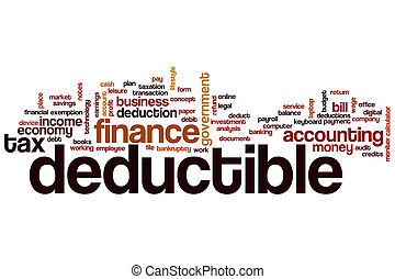 Deductible word cloud concept
