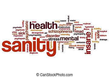 Sanity word cloud concept