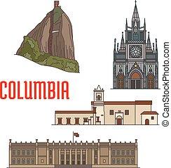 Architecture tourist attractions of Colombia. El Penon de...
