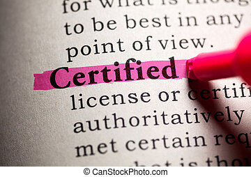 certified - Fake Dictionary, Dictionary definition of the...