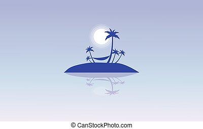 Silhouette of islands beautiful landscape
