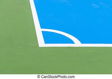 footbal, campo, cierre, escena, Arriba, campo, calle,...