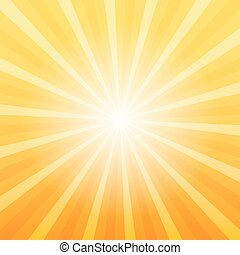 Orange sunray background, Gate to Heaven concept, 2d vector...