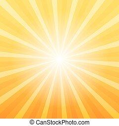 Orange sunray background