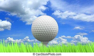 Golf ball 3D animation - 3D animation of the golf ball,...