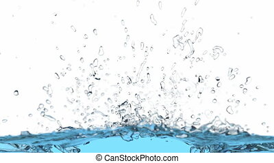 3D animation of the water splash