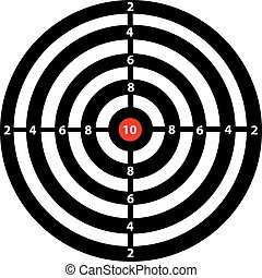 Darts game in the target center - vector darts game in the...